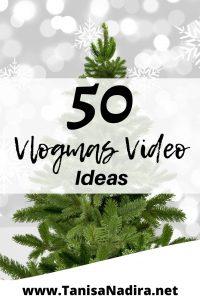 vlogmas video ideas YouTube